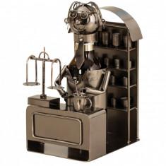Suport metal pentru sticla bere model farmacist H 25 cm latime 14 cm