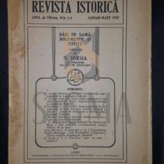 REVISTA ISTORICA an VIII - ian-mart 1922 - N . IORGA