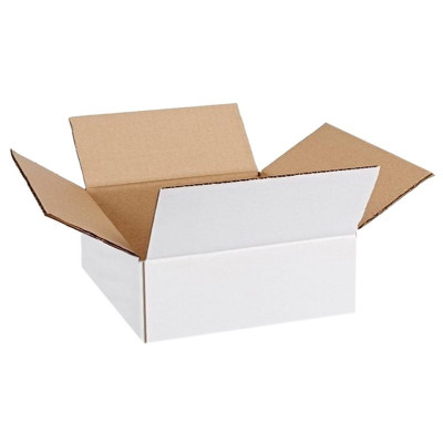 Cutie carton 200x150x90, alb, 3 straturi CO3, 435 g/mp foto