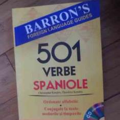 501 Verbe Spaniole+cd - Christopher Kendris Theodore Kendris ,537629