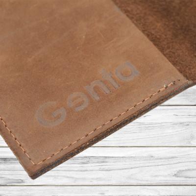 Husa pasaport piele naturala maro inchis inchidere capsa foto