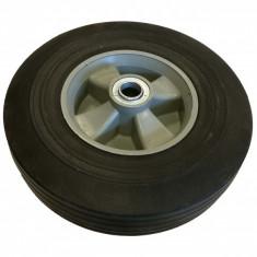 Roata transport plastic gri 25cm x 6 cm (cauciuc plin)