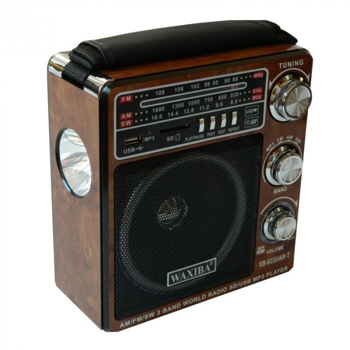 Radio MP3 Waxiba XB-922UAR-T, 3 benzi, lanterna incorporata