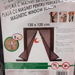 Plasa cu magneti pentru ferestre impotriva insectelor dimensiune maxima 120x120 cm