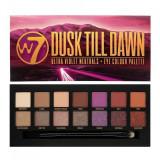 Cumpara ieftin Paleta farduri de pleoape W7 Dusk Till Dawn Ultra Violet Neutrals, 14 culori