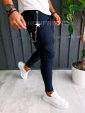Pantaloni VAGABOND - de trening pentru barbati - slim fit - bleumarin - A6406