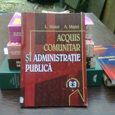 Acquis comunitar si administratie publica - L. Matei
