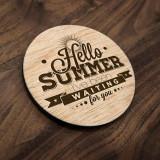 Set Suporturi Pahare Hello Summer - 4 buc