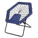 Scaun portabil pentru plaja sau picnic, Everestus, 20FEB0147, Otel, Poliester, Albastru, Negru, saculet inclus