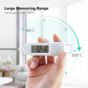 Termometru digital cu sonda pentru bucatarie, lichide, alimente, lactate,...