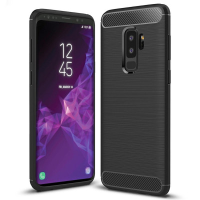 Husa SAMSUNG Galaxy S9 Plus - Carbon (Negru) Forcell foto