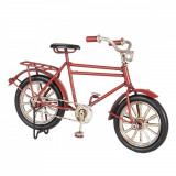 Macheta Bicicleta Retro din metal rosu 16 cm x 5 cm x 10 h, Clayre & Eef