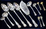 Serviciu din argint Sterling Silver pentru 12 persoane, George IV al Scotiei, Edinburgh, 1827