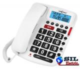 Telefon cu fir de masa cu afisaj, alb, 5030 Concorde