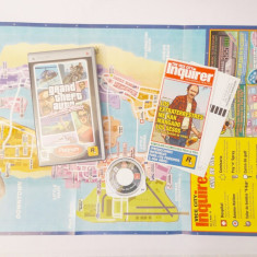 Joc Sony PSP - Grand Theft Auto Vice City Stories  complet + harta mare / poster