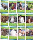 Bnk crc Cartonase de colectie Sainsbury`s lot 80 bucati Star Wars Marvel Disney