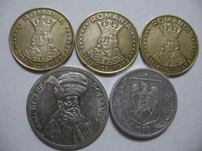 Romania (53) - 20 Lei 1991, 1992, 1993, 100 Lei 1994, 500 Lei 1999 foto