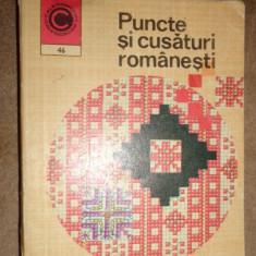 Puncte si cusaturi romanesti 90pag.+90modele/format mic 10x12cm/ an 1973-