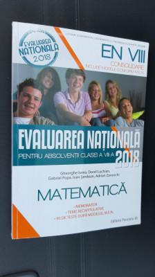 MATEMATICA CLASA A VIII A EVALUAREA NATIONALA foto