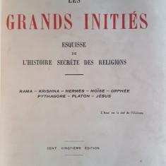 EDOUARD SCHURE -  LES GRANDS INITIES {1931}