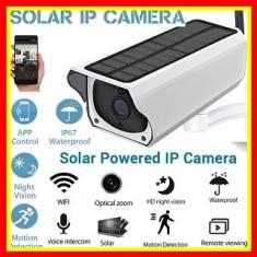 Camera De Supraveghere Cu Alimentare Solara Ip Wireless Hd  Pentru Exterior