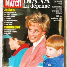 "Revista ""PARIS MATCH - Diana La deprime"", Aprilie, 1994. In limba franceza"