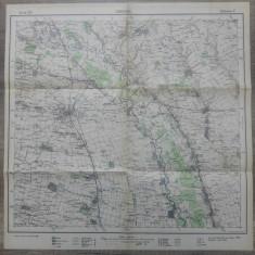 Caracal/ harta Serviciul Geografic al Armatei 1939