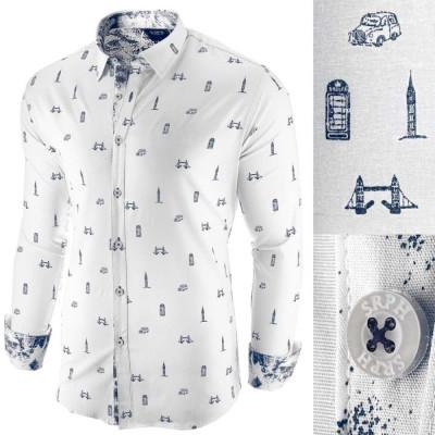 Camasa pentru barbati, alba, slim fit, casual - London Town Cool foto