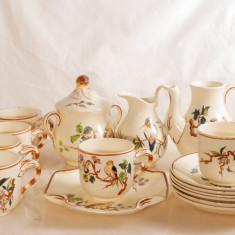 Set ceai/cafea porțelan antic Luneville (Franța) - cca. 1900