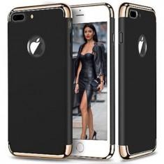Husa telefon Iphone 8 Plus ofera protectie 3in1 Ultrasubtire Black Matte