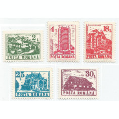 *România, LP 1262/1991, Hoteluri şi cabane (uzuale II), MNH