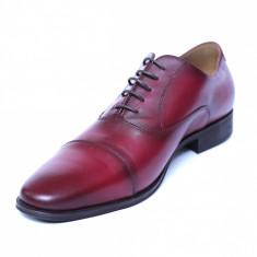 Pantofi barbati din piele naturala, Solari 2, DENIS, Bordeaux, 39 EU