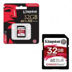 Secure digital card kingston 32gb sdhc clasa 10 uhs-i 100mb/s read 70mb/s write