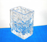 Cumpara ieftin Vaza cristal masiv suflata manual - Aquarium - design Chr. Sjogren, Lindshammar