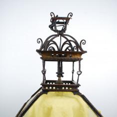 Lusta frantuzeasca veche fier forjat si aurit anii 1900
