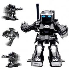Robot de jucarie luptator Kingcraft, cu telecomanda, negru