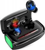 Casti Bluetooth Wireless CVC8.0 Noise Reduction IPX5 Sweatproof 3000mA, Casti In Ear