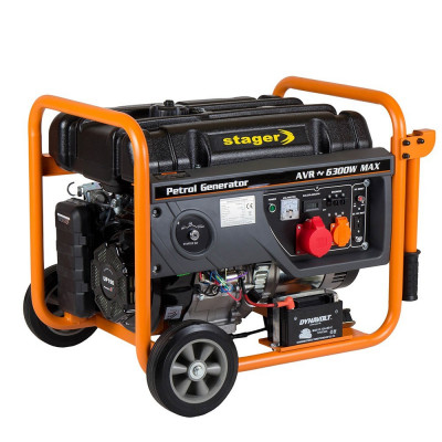 Generator curent electric STAGER GG 7300 3EW – 6.3 kW foto