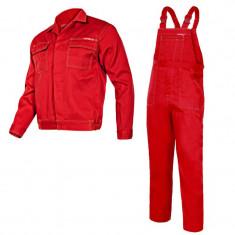 Costum lucru subtire, 65% poliester, orificii de ventilatie, cusaturi duble, marime L/H-182, Rosu