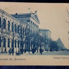 Salutari din Bucuresci, Palatul Universitatii - CP Clasica