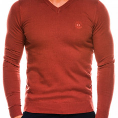 Bluza pentru barbati, din bumbac, camel, casual slim fit - E74
