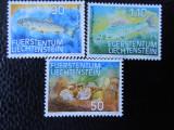 Serie timbre pesti animale fauna Lichtenstein nestampilate