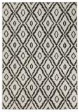 Covor Modern & Geometric Twin, Negru, 80x350, Bougari