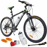 Bicicleta MTB MalTrack Team Green cu 18 Viteze, Roti 26 Inch, Mountain Bike | arhiva Okazii.ro