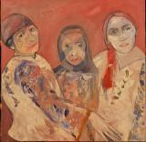 """TABLOU, CRISTIAN DIACONESCU """"FAMILIE TRADITIONALA"""", Ulei pe Panza, 2016"""