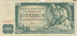 Bancnota Cehoslovacia 100 Korun 1961 - P91b VF