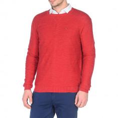 Pulover Tommy Denim Basic red, Custom Fit, culoare Rosu, marime XL EU