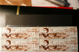VOC 2002 LP1589-Ziua marcii postale romanesti- bloc de 4-MNH