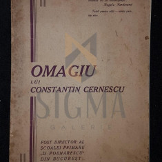 OMAGIU LUI CONSTANTIN CERNESCU, BUCURESTI, 1930 - OMAGIU LUI CONSTANTIN CERNESCU, BUCURESTI, 1930