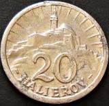 Moneda ISTORICA 20 HALIEROV, anul 1942  *cod 4537 = SURPLUS ALUMINIU + EXFOLIERE